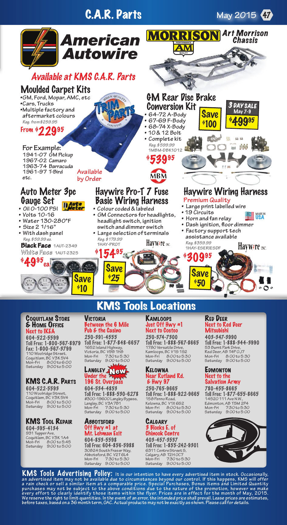 Kms Tools Weekly Flyer Construction Trades Sale May 1 31 Haywire Wiring Harness