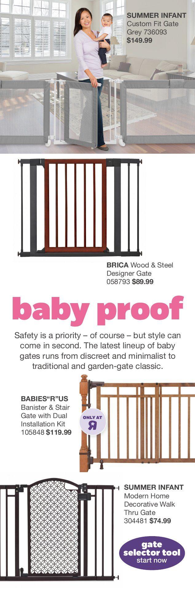Babies R Us Weekly Flyer Nursery Look Book Jun 30 Jan 31 Summer Custom Fit Gate