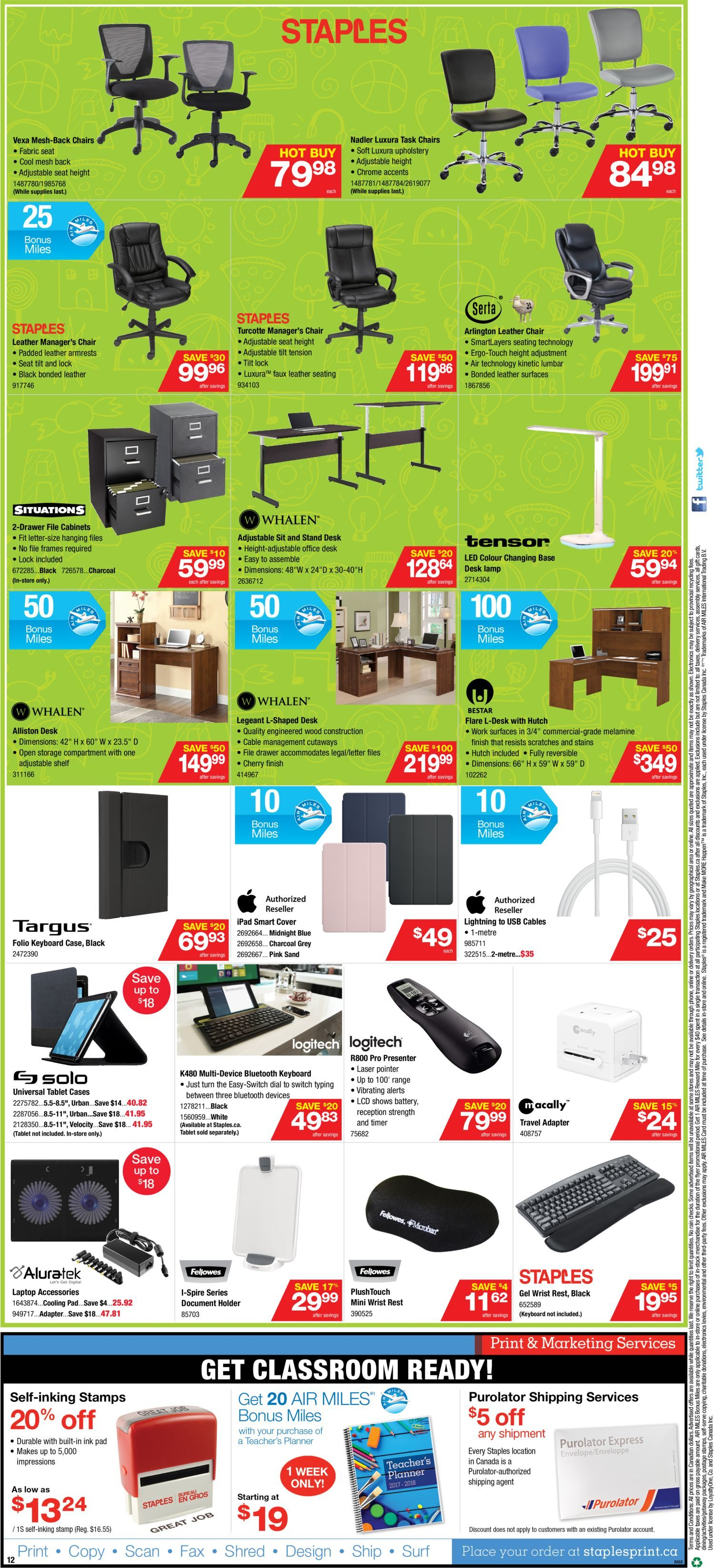 Staples Weekly Flyer Weekly Back to School Low Prices Aug 30