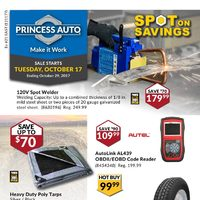 Princess Auto - Spot on Savings Flyer