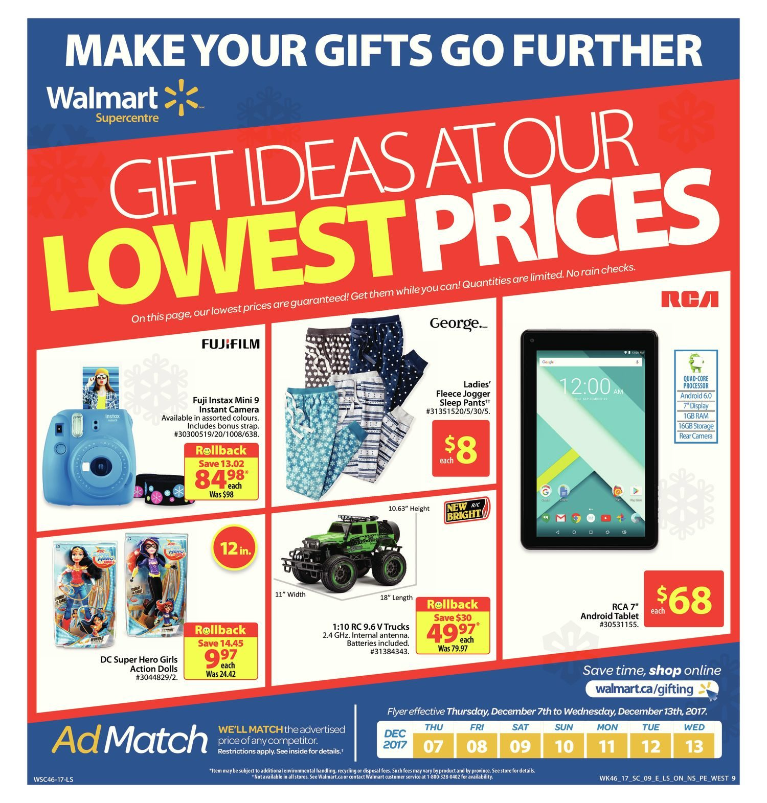 Walmart Weekly Flyer - Supercentre - The Lowest Price is Everything