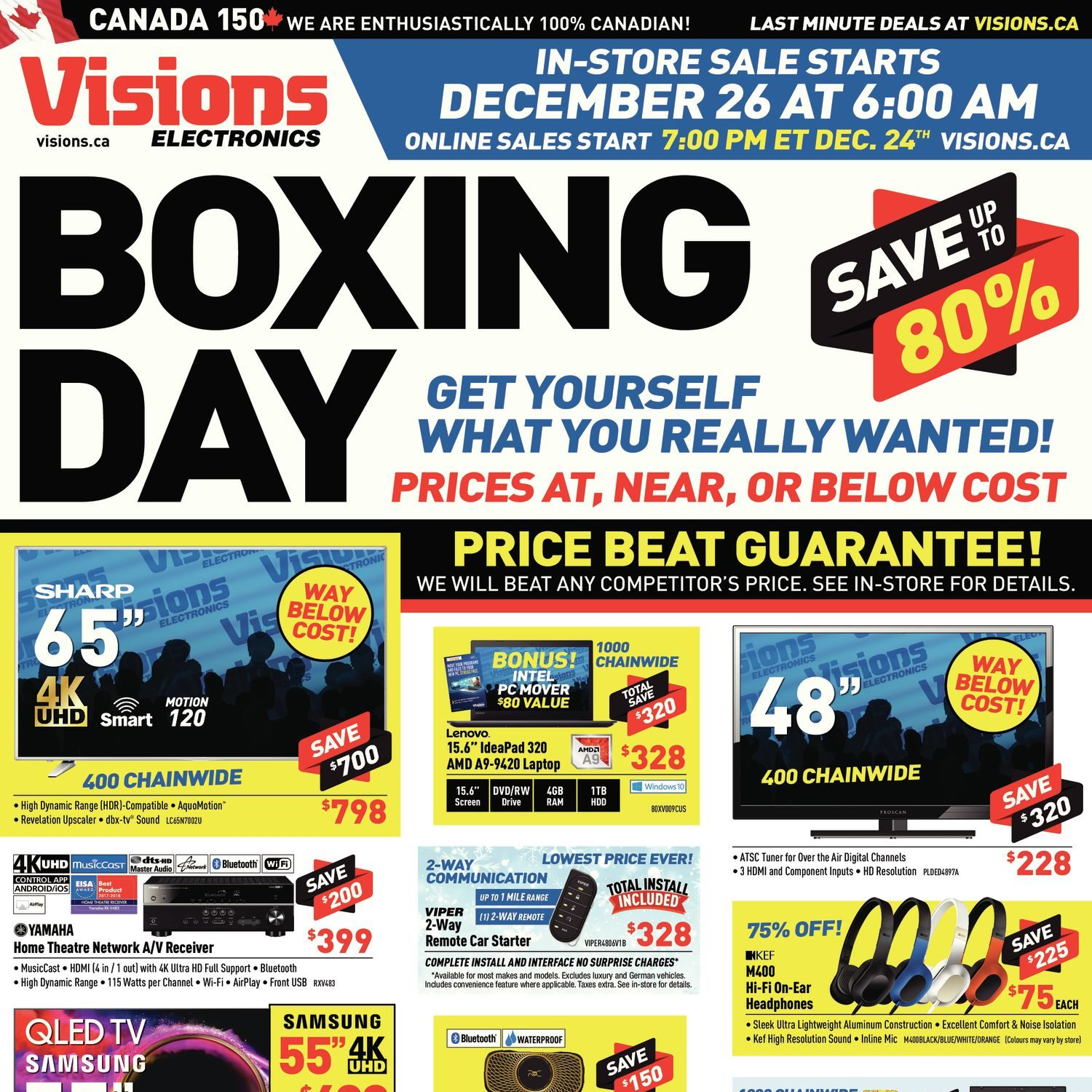Visions electronics weekly flyer boxing day dec 24 26 redflagdeals com