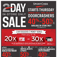 - 2 Day In-Store Only Sale Flyer