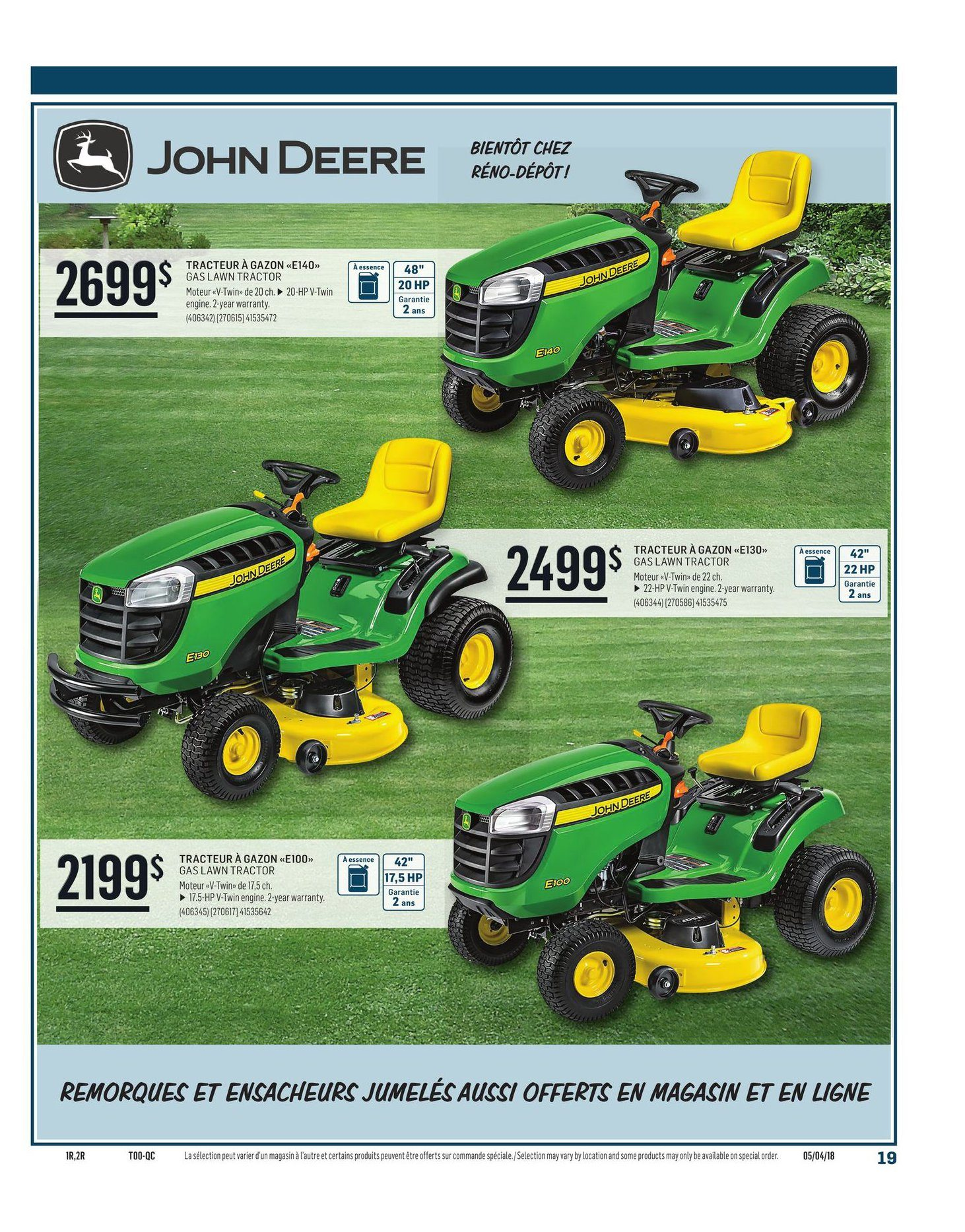 Reno Depot Weekly Flyer Spring Summer Guide 2018 Apr 5 – 30