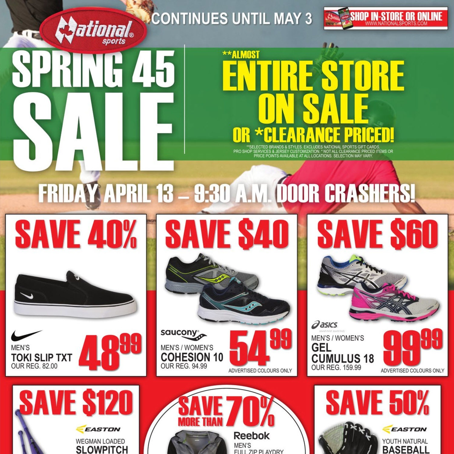 9cbb4b01b National Sports Weekly Flyer - Spring 45 Sale Continues - Apr 13 – May 3 -  RedFlagDeals.com