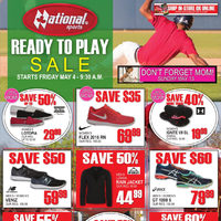 National Sports - Ready to Play Sale - Don't Forget Mom! Flyer