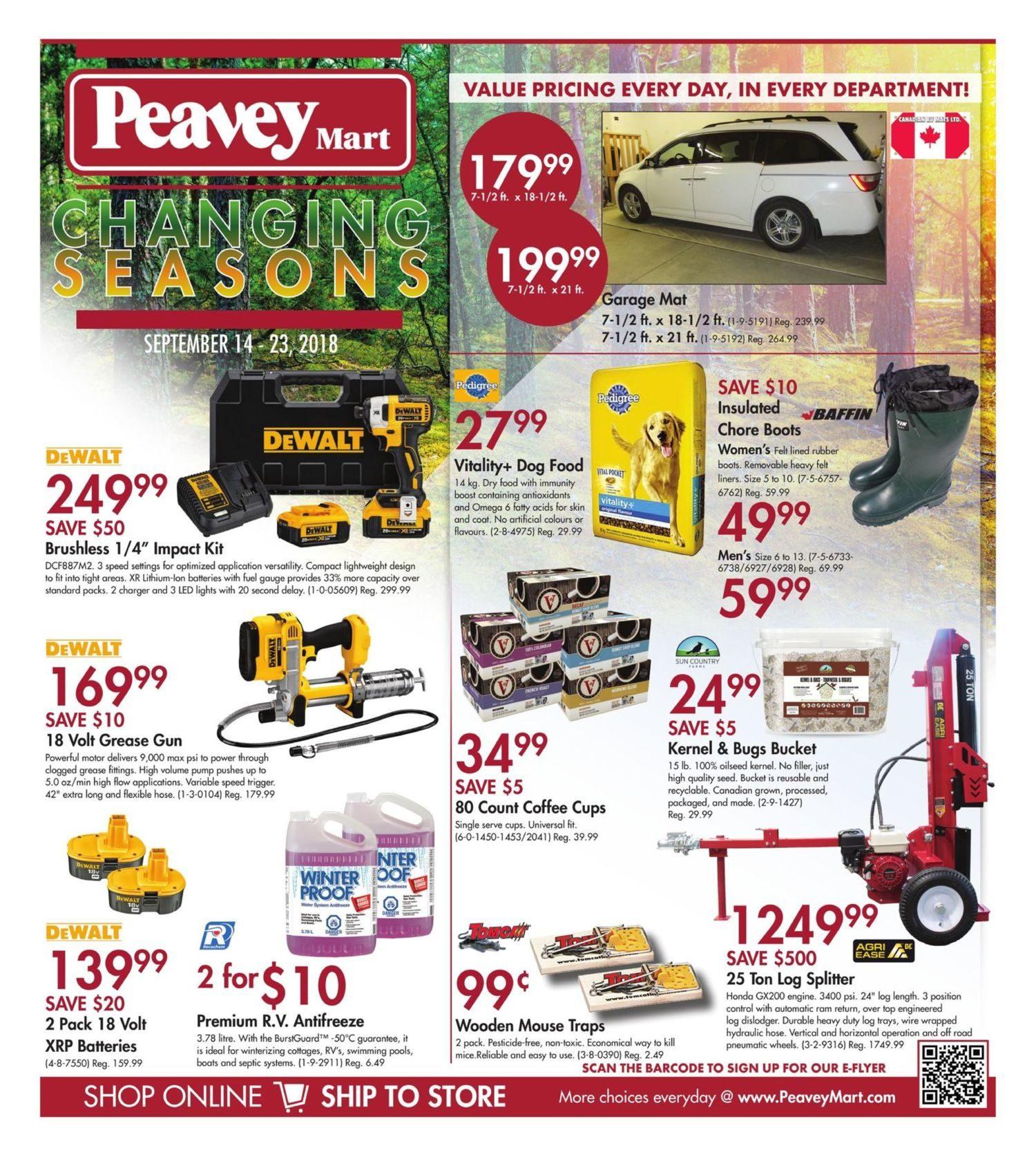 Peaveymart Weekly Flyer Changing Seasons Sep 14 23 Redflagdeals Com