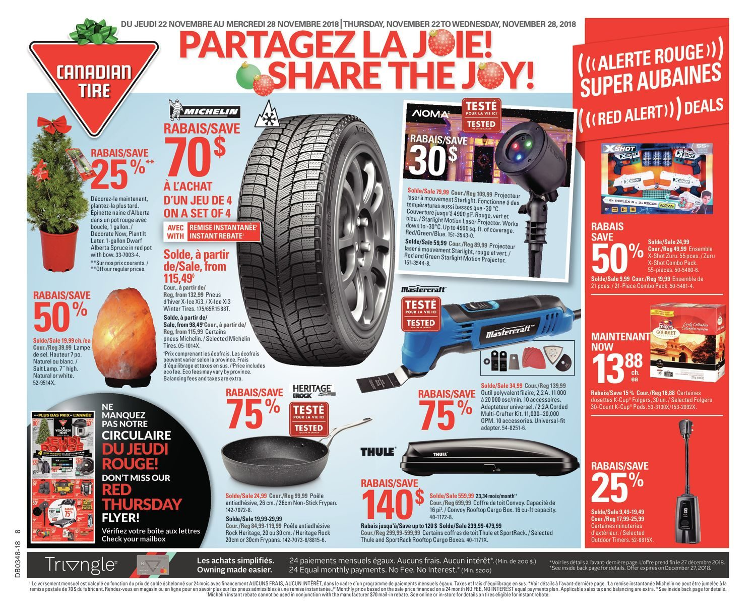 Canadian Tire Weekly Flyer Weekly Share The Joy Nov 22 28 Redflagdeals Com