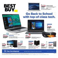 Best Buy - Weekly - Go Back To School Flyer