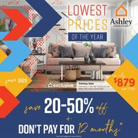 Ashley HomeStore - Lowest Prices Of The Year Flyer