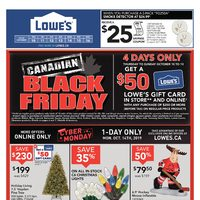 Lowe's - Weekly - Canadian Black Friday Flyer