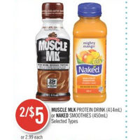 Muscle Milk Protein Drink Or Naked Smoothies