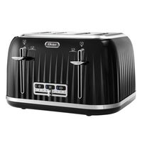 Oster Chrome Accent Black Toaster