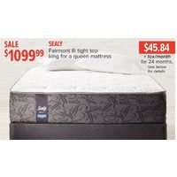 Sealy Fairmont III Tight Top King For A Queen Mattress