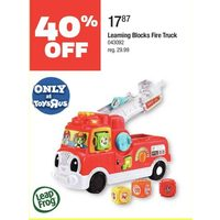 Leap Frog Learning Blocks Fire Truck