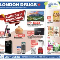 London Drugs - 6 Days of Savings - Autumn Is Awesome Flyer