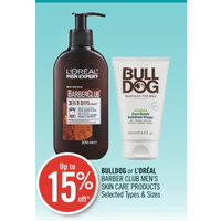 Bulldog Or L'Oreal Barber Club Men's Skin Care Products