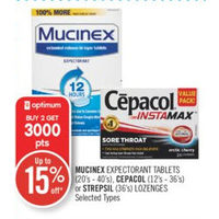 Mucinex Expectorant Tablets, Cepacol Or Strepsil Lozenges