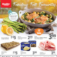 Quality Foods - Weekly - Fabulous Fall Favourites Flyer