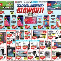 Factory Direct - Colossal Inventory Blowout! Flyer