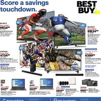 Best Buy - Weekly - Score A Savings Touchdown Flyer