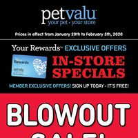 Pet Valu - Blowout Sale! Flyer
