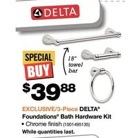 Delta Foundations Bath Hardware Kit