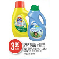 Downy Fabric Softener, Purex Or Tide Simply Laundry Detergent
