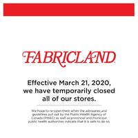 Fabricland - All Stores Closed Flyer