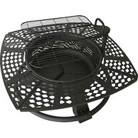 Power Fist 29 In. Fire Pit With Cooking Grill