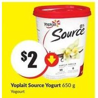 Yoplait Source Yogurt
