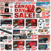 2001 Audio Video - Canada Day Sale! Flyer
