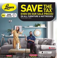 Leon's - 2 Weeks of Savings - Save The Tax Flyer