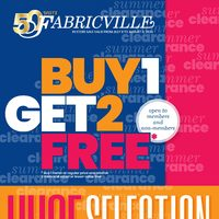 Fabricville - Buy 1 Get 2 Free Flyer