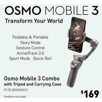 Osmo Mobile 3 Combo With Tripod And Carrying Case