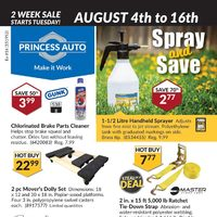 Princess Auto - 2 Week Sale - Spray & Save Flyer