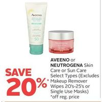 Aveeno Or Neutrogena Skin Care Or Sun Care