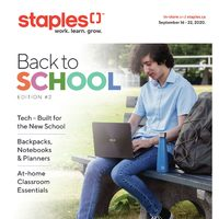 Staples - Back To School - Edition #2 Flyer