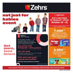 Zehrs - Not Just For Babies Event Flyer