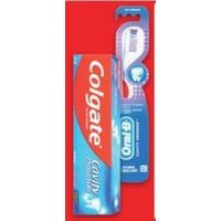 Colgate Toothpaste or Colgate or Oral-B Manual Toothbrush