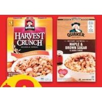 Quaker Instant Oatmeal or Cereal