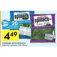 Cooking With Spinach