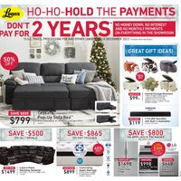 Leon's - Ho-Ho-Hold The Payments Flyer