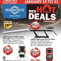 Princess Auto - 2 Weeks Sale - Red Hot Deals Continued Flyer