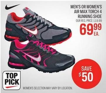 ec14bd10779 Sport Chek Men s Or Women s Nike Air Max Torch 4 Running Shoe -  69.99  ( 50.00 off) Men s Or Women s Nike Air Max Torch 4 Running Shoe -  69.99