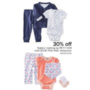 Babies' Clothing by Petit Lem and Chick Pea; Kids' Sleepwear - 30% off