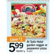 Fortinos: Al Safa Halal Garden Veggie Or Pepperoni Pizza