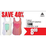 Firefly Girl's Scarlett Graphic Tank  - $8.99 (40%  off)