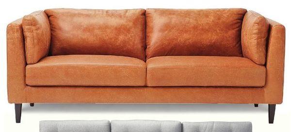 Sears Paola 79 Italian Leather Sofa