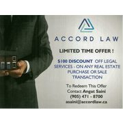 $100.00 Discount On Legal Fees - Real Estate Closings